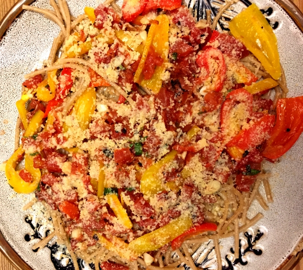 Multi-pepper pasta